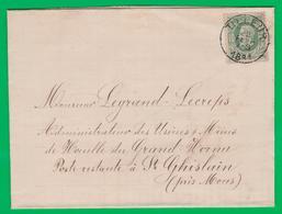 Doc. N° 30 TILLEUR 1881 Vers St. Ghislain Près De Mons - 1869-1883 Leopold II