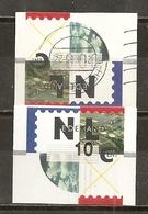 Pays-Bas Netherlands Postage Labels 2 Types Obl - Usados