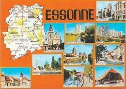 CARTES GÉOGRAPHIQUES - 91 ESSONNE - 10 PETITES VUES - CPM - VIERGE - - Landkarten