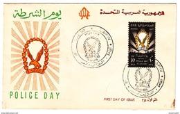 EGS30194 Egypt UAR 1965 Illustrated FDC Police Day - Briefe U. Dokumente