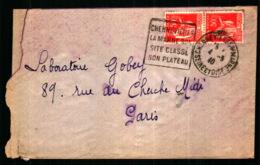 Obiltération Daguin Avec Publicité Touristique - Chennevières-sur-Marne - Marcophilie (Lettres)
