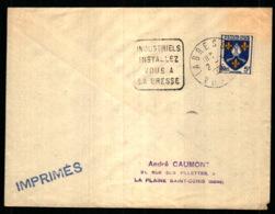 Obiltération Daguin Avec Publicité Touristique - La Bresse - Vosges - Marcophilie (Lettres)