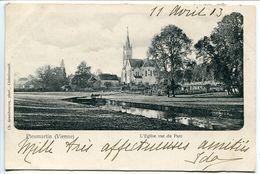 Pionnière - PLEUMARTIN Eglise Vue Du Parc - Voyagé 1903 - Pleumartin