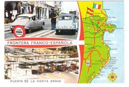 Douane - Grenzstation - Grenzübergang - Grenze France - Spain - Border - Cars - Autos - Citroen - Zoll