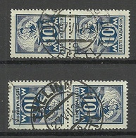 ESTLAND Estonia 1922 Michel 39 A Type IV (vertically Striped Paper) As Pairs O NB! - Estland