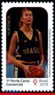Ref. BR-V2019-17 BRAZIL 2019 - FAMOUS PEOPLE, WOMEN WHO MADE HISTORY,, HORT�NCIA, QUEEN OF BASKETBALL, MNH,1V - Basket-ball