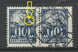 Estland Estonia 1923 Michel 39 A E: 5 = Left Hand With Bracelet ERROR Abart O - Estland