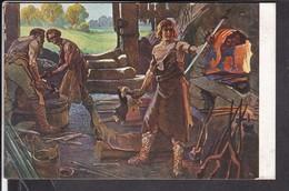 6 Künstlerpostkarten Nibelungen Sage , Dr.Reukauf - Mahn - Andere