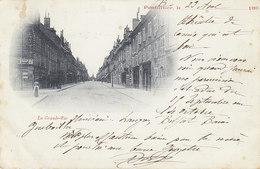 Pontarlier , La Grande Rue , Carte De 1899 , 2 Scans - Pontarlier