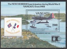 1992 YVERT Nº HB 19 MNH, Aviones. Vought-Sikorsky OS2U-3 Kingfisher - Vanuatu (1980-...)