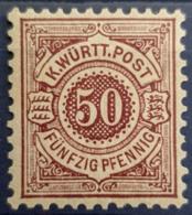 WÜRTTEMBERG 1875 - MNH - Mi 49 - 50pf - Wuerttemberg