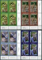 Papua New Guinea 2011. Cassowaires. Bottom Right Corner (MNH OG) Set Of 4 Blocks - Papua Nuova Guinea