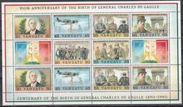 1990 YVERT Nº HB 17 MNH,  100th Birtday Of Charles De Gaulle - Vanuatu (1980-...)