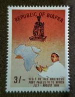 BIAFRA - MNH - Mi 43b - Visit Of Pope Paul VI - Nigeria (1961-...)