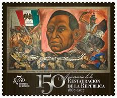 2017 MÉXICO  Restauracion De La República BENITO JUAREZ, MNH Painting José Clemente Orozco THE REFORM AND THE FALL - Mexique
