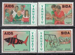 1991  YVERT Nº 870 / 873  MNH,  Contra El Sida - Vanuatu (1980-...)