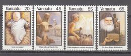 1987  YVERT Nº 788 / 791  MNH,  Navidad, Canciones Navideñas - Vanuatu (1980-...)