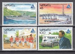 1985  YVERT Nº 718 / 721  MNH, Barcos,  5 Años De Independencia; EXPO Especial '85, Tsukuba - Vanuatu (1980-...)