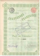 Titre Ancien - Manufacture De  Chaussures Françaises Varsovie - Titre De 1899 - - Russie