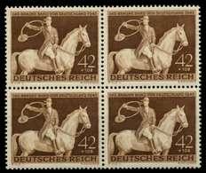 3. REICH 1943 Nr 854 Postfrisch VIERERBLOCK S612B92 - Allemagne