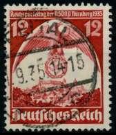 3. REICH 1935 Nr 587X Zentrisch Gestempelt X861062 - Oblitérés