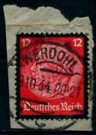 3. REICH 1934 Nr 552 Gestempelt Briefstück Zentrisch X864622 - Oblitérés
