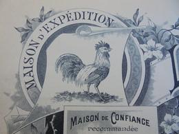 LE COQ  - SAINT JAMES, MANCHE, 190. - FACTURETTE VIERGE - BEURRE, OEUFS, VOLAILLES, LOUIS LEFEVRE - ILLUSTREE - France