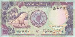 SUDAN 20 POUND 1991 P- 47 UNC */* - Soudan