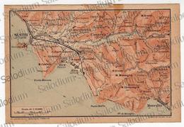 SESTRI LEVANTE RIVA MONEGLIA   - Liguria - Mappa Cartina - Mappe