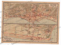 1910 - SAN REMO BORDIGHERA - Mappa Cartina - Mappe