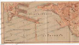1910 - GENOVA - PORTO  - Mappa Cartina - Mappe