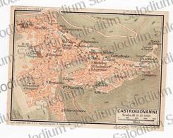 1910 - CASTROGIOVANNI - SICILIA  - Mappa Cartina - Mappe