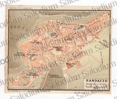 1910 - RANDAZZO - SICILIA  - Mappa Cartina - Mappe