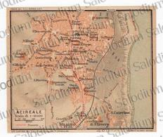 1910 - ACIREALE - SICILIA  - Mappa Cartina - Mappe