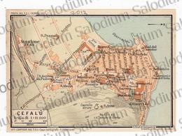 1910 - CEFALU' - SICILIA  - Mappa Cartina - Mappe