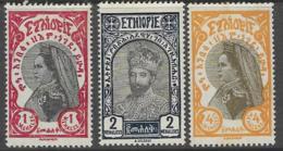 Ethiopia Scott # 158-60 Mint Hinged Zuditu, Tafari, 1928 - Ethiopia
