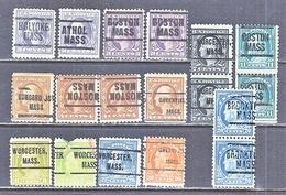 U.S. 501 +   Perf. 11  (0)   MASS.  1917-19 Issue - Precancels