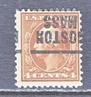 U.S. 503   Perf. 11  *   MASS.  1917-19 Issue - Precancels