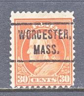 U.S. 516   Perf. 11  *   MASS.  1917-19 Issue - Precancels