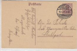 Ganzsache Aus OSTRACH (Hohenzollern) 10.4.20 - Briefe U. Dokumente