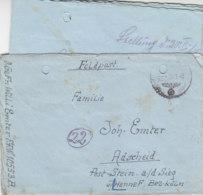 Feldpost Von Der 10553-Sammel-Kp. Dänemark  29.1.45 Laut Briefinhalt OKSBÖL - 1913-47 (Christian X)