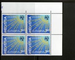 SUISSE-SWITZERLAND 1994 SERVICE-UIT  BLOC DE 4   YVERT   N°469  NEUF MNH** - Dienstpost