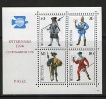 SUISSE-SWITZERLAND 1974 INTERNABA   YVERT   N°B22  NEUF MNH** - Blocks & Kleinbögen