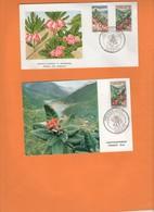 Fleurs De Nouvelle-Calédonie 1964. Bikkia Et Xanthostemon. Belle Enveloppe 1er Jour Et Carte FDC - Briefe U. Dokumente