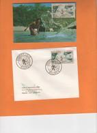 Pecheur A L'épervier. Filet. Mer. Mélanésien. Rivage FDC Et Carte Maximum Poste Aérienne 7/12/61 - Briefe U. Dokumente