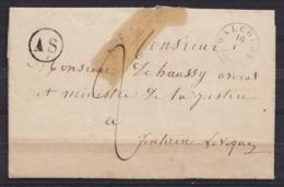 """L. Datée 16 Janvier 1848 De THY-LE-CHÂTEAU Càd T18 WALCOURT /16 I Pour FONTAINE L'EVEQUE - Boîte """"AS"""" Port """"2"""" (au Dos: - 1830-1849 (Belgique Indépendante)"""