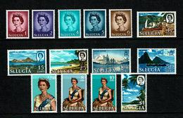 St Lucia 1964 Sc # 182 / 195  MNH **  QE II - St.Lucia (1979-...)