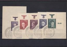 GG Generalgouvernement MiNr. 96-100, Eckrand E2, Gestempelt, Sonderstempel - Besetzungen 1938-45