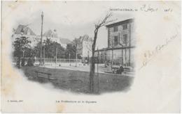 MONTAUBAN - LA PREFECTURE ET LE SQUARE  - CARTE PRECURSEUR ANIMEE - 1901 - Montauban