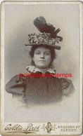 CDV  Jeune Femme Au Chapeau Spectaculaire-mode Femme- Photo Goldie Bros à Cardiff Pays De Galles - Old (before 1900)